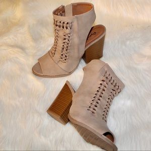 Qpuid Tan Ankle Boots